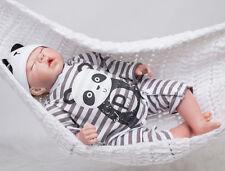 "20"" Handmade Reborn Baby Boy Doll Full Body Silicone Soft Touch Toy Lifelike it"