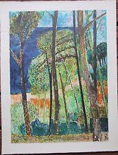 BARDONE Guy - Lithographie lithograph signée EA pinède mer Piquey Jura 1966 **