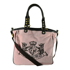 NEW Juicy Couture Velour Scottie Embroidery Heart Charm Bag Tote Nardles