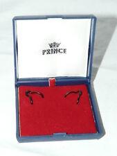 Boite Ecrin vide bijoux bleu boucles d'oreille PRINCE Vintage coffret cadeau