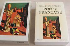 """Poésie Française par Bernard Delvaille """"Bouquins"""" R.Laffont - 1991"""