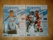 2 X Coventry Blaze V Belfast Giants Ice Hockey