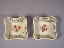 Royal Vienna Set of 2 Reticulated Weave Basket  Beehive Shield mark