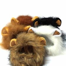 New Pet Costume Lion Mane Wig for Dog Cat Halloween Dress up with Ears