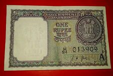 ★1 ONE RUPEE UNC NEW NOTE ★ A-13 SIGNED BY L.K.JHA ★ A INSET YEAR 1963 ★