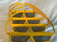 (4) Walt Disney World 3D Glasses Theme Park Toy Story Pixar Studios Yellow