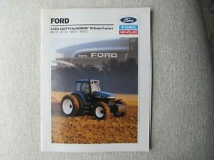 1993 Ford New Holland 8670 8770 8870 8970 Genesis 70 series tractor brochure