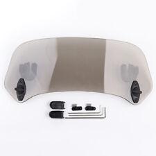 Adjustable Clip On Windshield Extension Wind Deflector For Aprilia BMW Ducati MP
