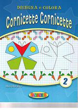 Disegna e colora cornicette. Blu - Salvadeos - Libro nuovo in offerta!