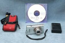 CANON POWERSHOT ELPH 180 20MP POINT & SHOOT DIGITAL CAMERA W/CASE, CHGR, BATT