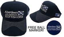 European Tour Scottish Open Golf Cap - RRP£20 - Navy - FREE BALL MARKER