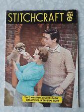 1950s Vintage Stitchcraft Knitting Embroidery Dressmaking Magazine, January 1958