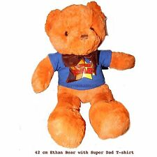 Ethan Teddy Bear w T-Shirt 'Super Dad' Fathers Day Gift Adult Plush Huggable Toy