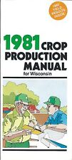 Farm Seed Brochure - Pioneer - Crop Production Wisconsin - 1981 (F5022)