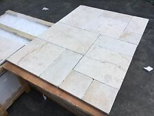 Crema Marfil Opus Pattern Tumbled Marble Tiles Floor/wall 100x100mm Sample 30m2
