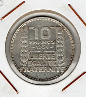 France: 10 Francs 1934 (buen estado)