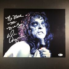 Alice Cooper Signed Autographed 11x14 Photo Beckett BAS Inscribed 4