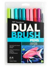 Tombow Dual Brush Pen Art Markers - Tropical Palette 10-Pack