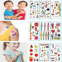 5X Fashion Safety Tattoo Sticker Child Kid Temporary Body Art Christmas GiftM ni