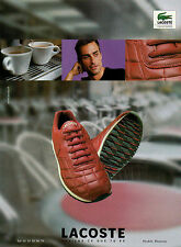 Publicité 2001  Chaussures LACOSTE basket sport collection pret à porter mode