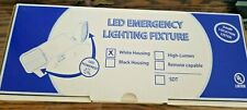 LED Emergency Lighting Fixture with White Housing