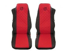Volvo FH4 , FL , FE after 2014 Truck Seat Covers 2 piece BLACK RED