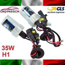 Coppia lampade bulbi kit XENON Lancia Delta H1 35w 8000k lampadina HID fari luci