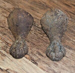 2x cast iron bath feet lions foot ball claw vintage retro bathroom UK SELLER