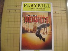 IN THE HEIGHTS COLOR PLAYBILL MUSICAL
