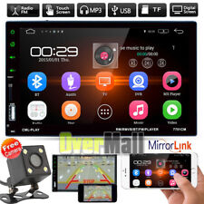 7'' Double 2DIN Car Stereo Radio Bluetooth TouchScreen FM MP5 USB AUX Player+Cam