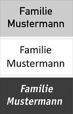 Klingelschild-Namensschild--Türschild Alu  100 x 50 x 2 mm Wunschtext