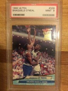 1992-93 Fleer Ultra #328 Shaquille O'Neal Rookie Card Graded PSA 9 Mint HOF