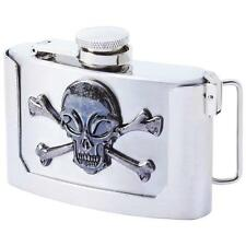 3oz Stainless Steel Belt Buckle Motorcycle Chopper Flask  Whiskey Alcohol Liquor