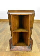 Antique ARTS AND CRAFTS oak bookcase display shelving - pedestal plant stand