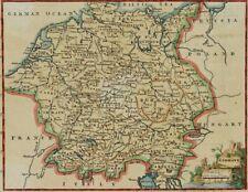I. JEFFERY, Topogr. Landkarte Hl Römisches Reich vor 1648, 18.Jhd, Kupferst