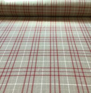 Laura Ashley Keynes Cranberry, Check Fabric,Upholstery/Curtains/Blinds/Cushions