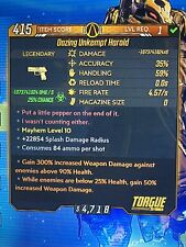 Borderlands 3 Modded LvL 1 Unkempt Harold ☣️ Bounty Of Blood DLC + M10 ☣️ XBOX