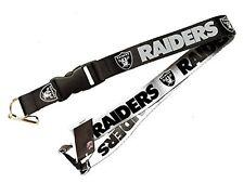 Oakland Raiders Reversible 2 Sided Lanyard Key Chain Ticket Holder NFL