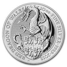 Anlagemünze 10 oz Silber 999.9 Queen's Beasts - Red Dragon of Wales 2018 #3