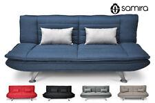 Divano letto clic clac in tessuto blue marino - divano 3 posti Iris con cuscini