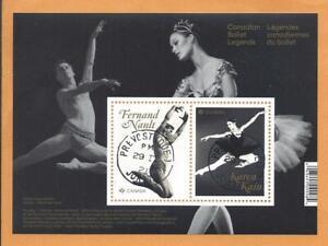 2021 Canadian Ballet Legends Souvenir Sheet First Day Cancel