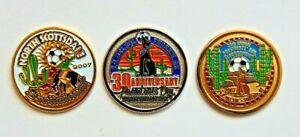 Soccer Flip Coins 2009 30th Anniversary Presidents Day Tournament Phoenix Az