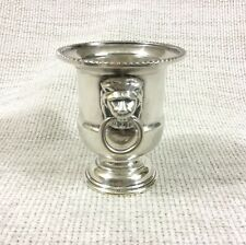 Vintage Silver Plated Toothpick Holder Lion Mask Handles VINERS Classical Urn