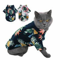 Pet Puppy Summer Shirt Small Dog Cat Pet Clothes Vest T Shirt Beach Style New p