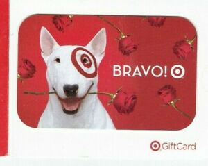Target Gift Card Bullseye Dog Rose in Mouth BRAVO! 2005 - No Value - On Backing