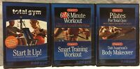 5 Total Gym workouts on 3 DVDs lot 6 to 8 minute smart training pilates makeover