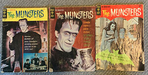 Lot of 3 Gold Key Comics 1966 THE MUNSTERS 4 8 and 11