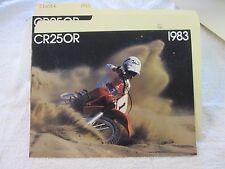 NOS Honda 1983 CR250 R  DEALER SALES BROCHURE