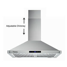 30 inch 760 Cfm Wall Mount Range Hood Stainless Steel Stove Cook Vent Led Lights