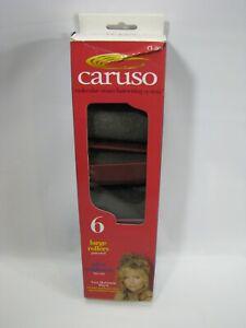 6 Caruso Jumbo Large Hair Rollers Professional Molecular Steam Curlers Sponge